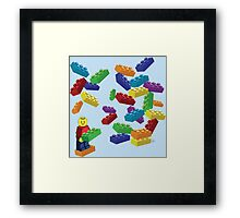 LEGOS and Minifigure Framed Print