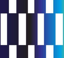 Beautiful Design Blocks Ombre Effect Contemporary Art Sticker