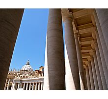 The Colonnade of Saint Peter's Square Photographic Print