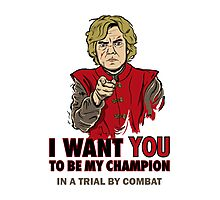 Uncle Tyrion (Red) Photographic Print