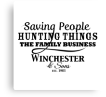 Winchester & Sons - The Family Business Canvas Print