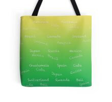 Countries on green Tote Bag