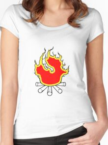 Feuer lagerfeuer  Women's Fitted Scoop T-Shirt