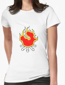 Feuer lagerfeuer  Womens Fitted T-Shirt
