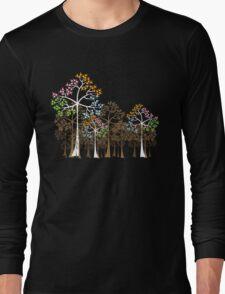 Colorful Four Seasons Trees Long Sleeve T-Shirt