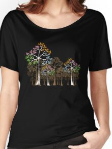 Colorful Four Seasons Trees Women's Relaxed Fit T-Shirt