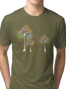 Colorful Four Seasons Trees Tri-blend T-Shirt