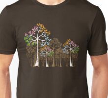 Colorful Four Seasons Trees Unisex T-Shirt