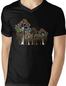 Colorful Four Seasons Trees Mens V-Neck T-Shirt