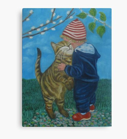 A big hug. Canvas Print