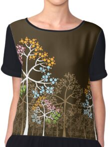 Colorful Four Seasons Trees Chiffon Top