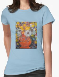 vase of flowers  Womens Fitted T-Shirt