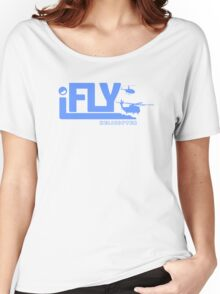 iFLY Helicopter Women's Relaxed Fit T-Shirt