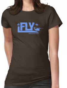 iFLY Helicopter Womens Fitted T-Shirt