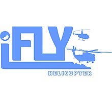 iFLY Helicopter Photographic Print