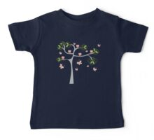 Whimsical Pink Cupcakes Tree Baby Tee