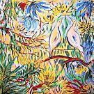 Birds in the Garden by catherine walker