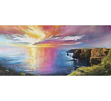 Cliffs of Moher sunset Photographic Print