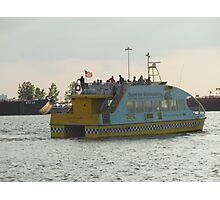 Water Taxi Leaving Port Photographic Print
