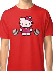 Hello Kitty Lifting Weights Classic T-Shirt