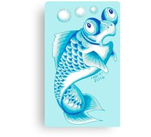 BLUE GOLDFISH Canvas Print