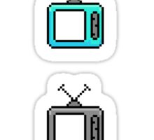 Retro Pixel Tv Sets Sticker