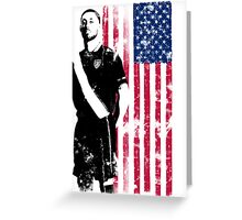 Dempsey with USA Flag Greeting Card