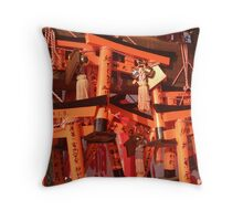 Tori Gates Fushimi Inari Throw Pillow