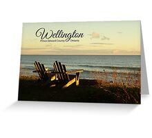 Wellington Beach Chairs Greeting Card