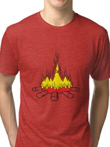 Feuer lager lagerfeuer  Tri-blend T-Shirt