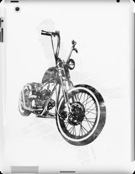 Old School Bobber Motorcycle by JoeyKnuckles