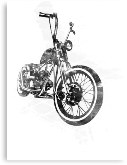 Old School Bobber Motorcycle by JoeyKnuckles