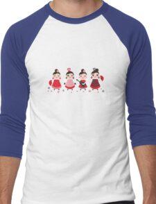 Flamenco girls with fans and guitars Men's Baseball ¾ T-Shirt
