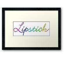 rainbow lipstick Framed Print