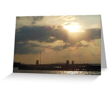 Sunset at Red Hook Greeting Card