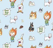 WOW MUCH DOGE sticker Pattern by Zwiebelprinzn