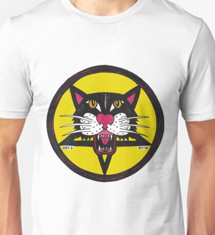 Big Black Demon Cat  Unisex T-Shirt
