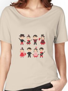 Flamenco boys and girls with guitar, castanets and fans Women's Relaxed Fit T-Shirt