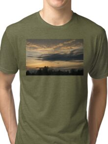 Ominous Looking Clouds at Sunset in Toronto, ON, Canada Tri-blend T-Shirt