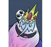 Ice King & Gunter the Penguin (Adventure Time) Photographic Print