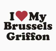 I Heart Love My Brussels Griffon Kids Clothes