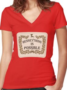 Henneything is Possible Women's Fitted V-Neck T-Shirt