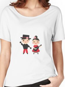 Flamenco boy and girl Women's Relaxed Fit T-Shirt
