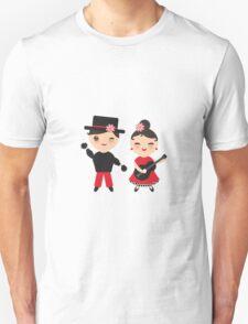 Flamenco boy and girl Unisex T-Shirt