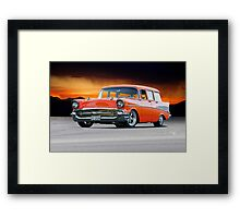 1957 Chevrolet Bel Air Custom Wagon Framed Print