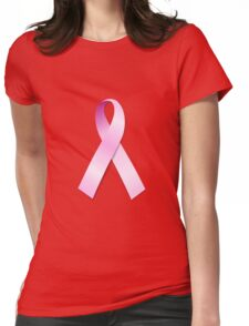 Breast Cancer Awareness Ribbon Womens Fitted T-Shirt