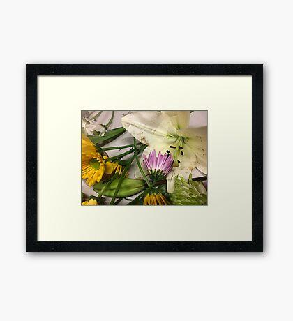 Artsy Flowers Photo Framed Print