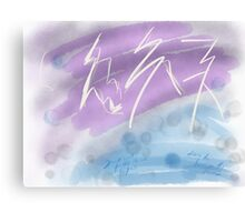 Learn to dance in the rain. Canvas Print