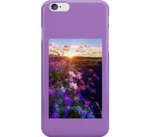 Flowers in sunrise iPhone Case/Skin