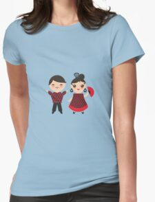 Flamenco boy and girl 2 Womens Fitted T-Shirt